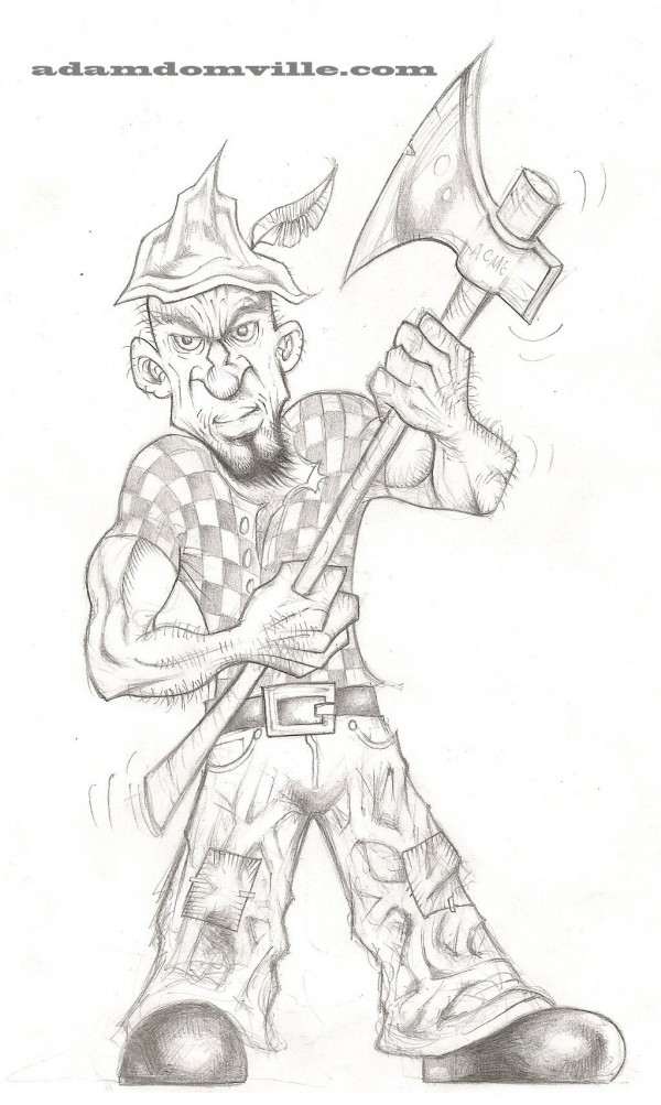 Woodsman concept sketch wm
